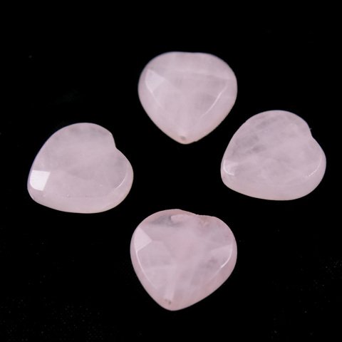 Бусины розовый кварц Мадагаскар Сердце граненое 1 бусина