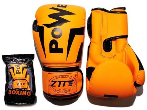 Перчатки боксёрские 10 oz: Q116 ОРН-10