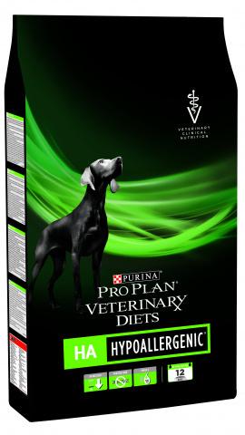Pro Plan Veterinary Diets HA Hypoallergenic корм для собак при пищевой аллергии 3 кг