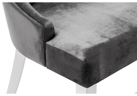 Стул деревянный кухонный, обеденный, для гостиной Elegance white / fabric grey 52*52*96 Белый /Серый