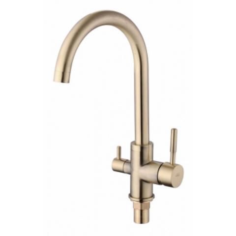 VIKO 5134, смеситель для кухни и под фильтр, цвет бронза Bronze