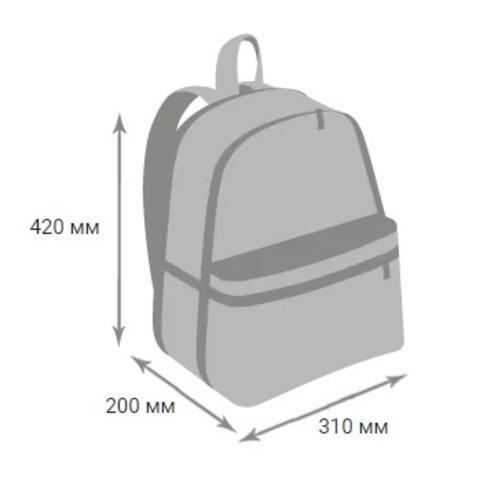 Рюкзак школьный розовая клетка, черный GRIZZLY (ТРК ГагаринПарк)