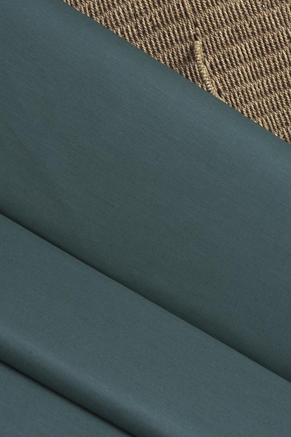 Льняная интерьерная ткань цвет ТЕМНО ЗЕЛЕНЫЙ