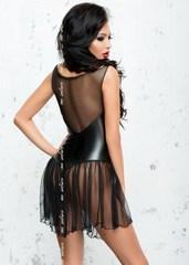 Прозрачное платье с корсетной вставкой Xymena