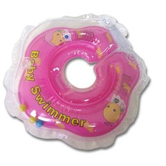 Baby Swimmer  Круг на шею  6-36 кг с погремушкой (розовый) (BS11-7)