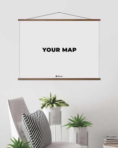 Рамка для скретч карт мира (светлая) 80 см