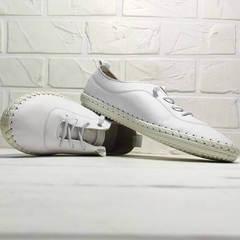 Белые кроссовки мокасины женские Rozen 115 All White.