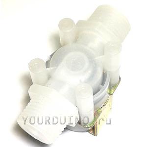 Электромагнитный клапан (ПЛАСТИК) для воды и воздуха DC12V (1/2
