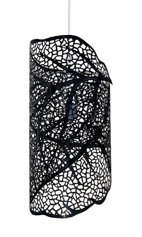 Люстра светильник потолочный Leaf skeleton pattern черный