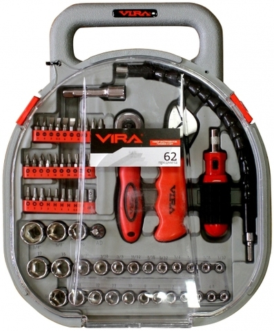 Набор инструментов (головок и бит) VIRA 62 (305007)