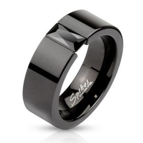 Кольца чёрные мужские и женские SPIKES R-M2620