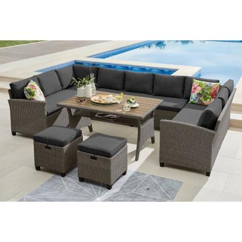 Комплект плетеной мебели AFM-370A Dark Grey