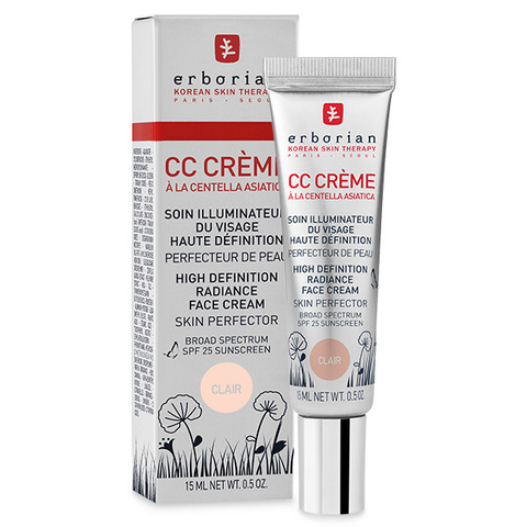 Erborian CC Крем  клер контроль цвета CC Cream Clair High Definition Radiance Face Cream Skin Perfector