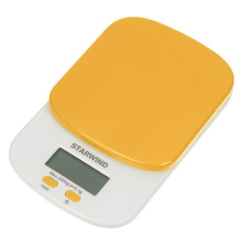 Весы кухонные электронные Starwind, до 2 кг, 2хААА, оранжевые
