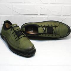 Модные мужские кроссовки туфли мужские повседневные Luciano Bellini C2801 Nb Khaki.