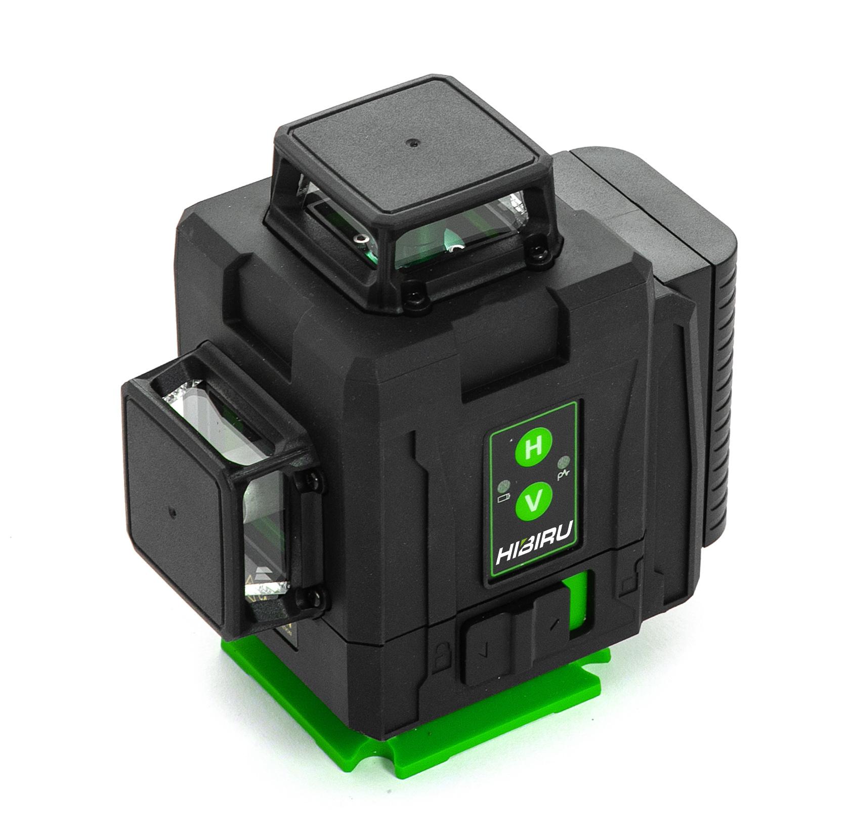 Лазерные уровни HIBIRU Лазерный уровень 4D HIBIRU PROFFMASTER  QP40 зеленый луч(нижний и верхний горизонт) + штатив 1,2м в комплекте 1-2.jpg