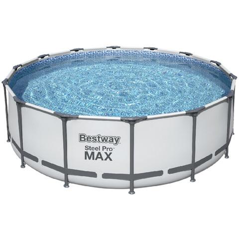 Каркасный бассейн Bestway 5612Z (488х122 см) с картриджным фильтром, лестницей и тентом / 25136