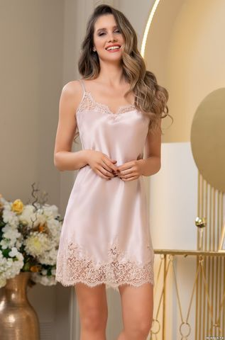 Короткая шелковая ночная сорочка Mia Amore Милинда (70% нат.шелк