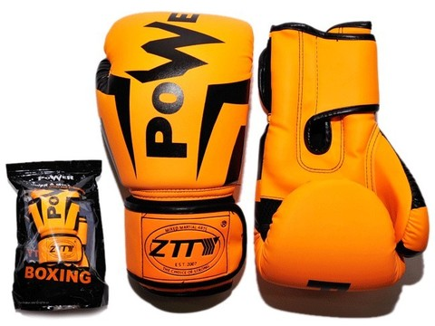 Перчатки боксёрские 12 oz: Q116 ОРН-12