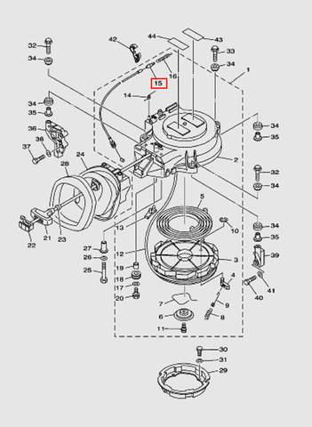 Трос стопора включения передач для лодочного мотора T40 Sea-PRO (7-15)