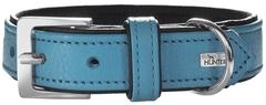 Ошейник для собак, Hunter Capri 60 (46-52 см) натуральная кожа, бирюзовый/черный