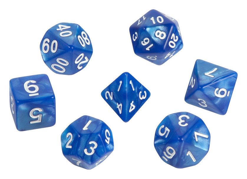 Набор кубиков STUFF PRO для ролевых игр. Голубой с темно-синим