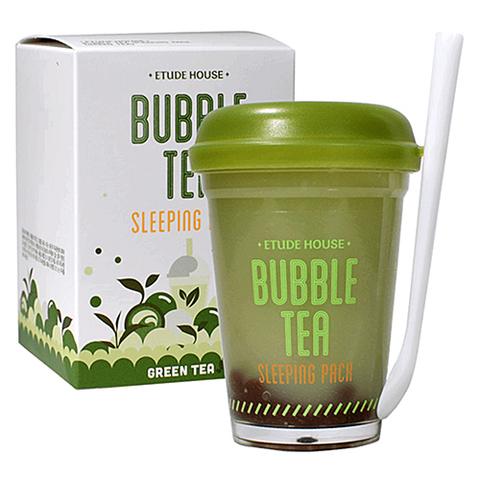 Etude House Маска ночная с экстрактом зеленого чая BUBBLE TEA SLEEPING PACK 100 г.