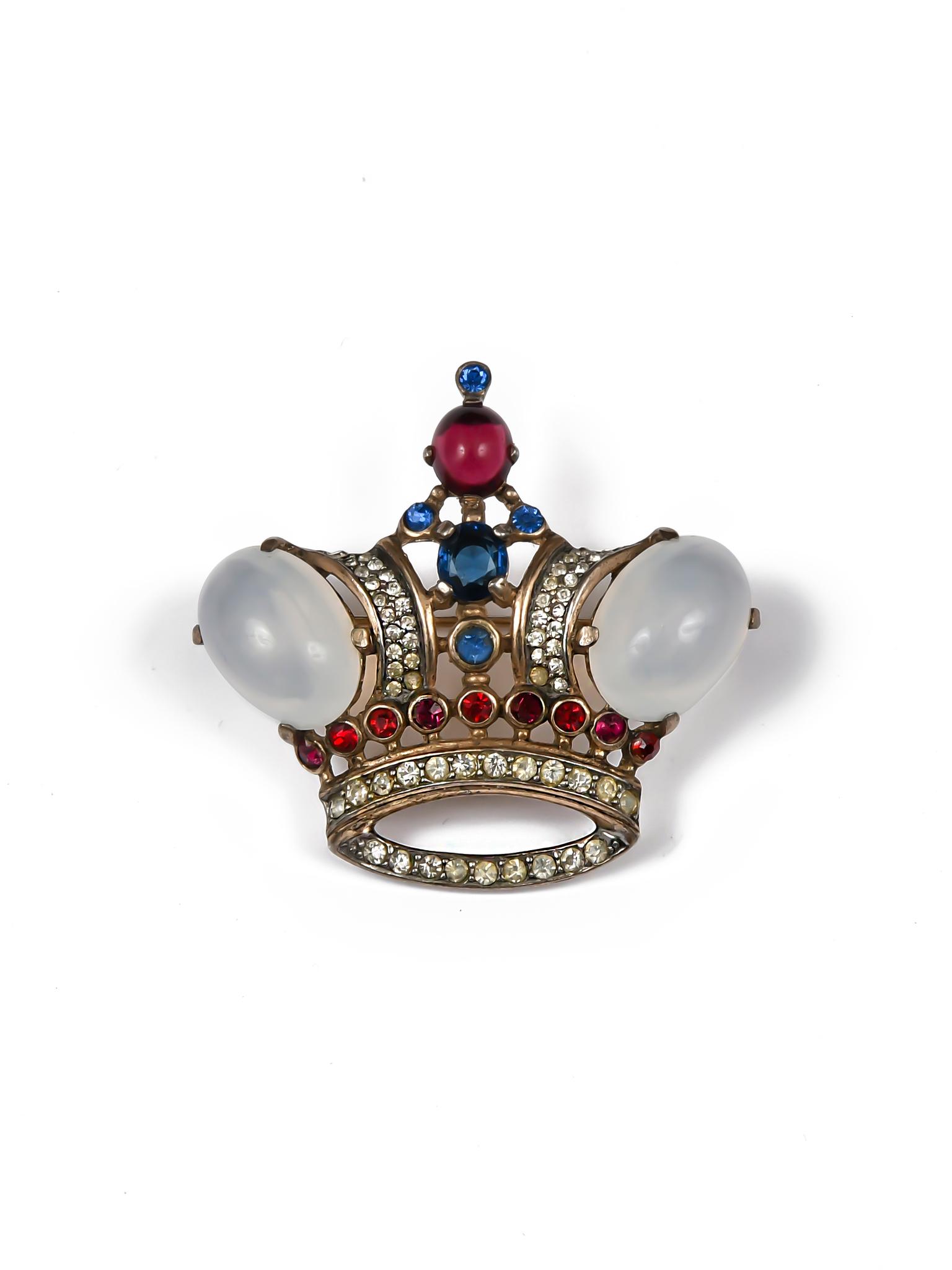 Прекрасная брошь «Корона» от Trifari