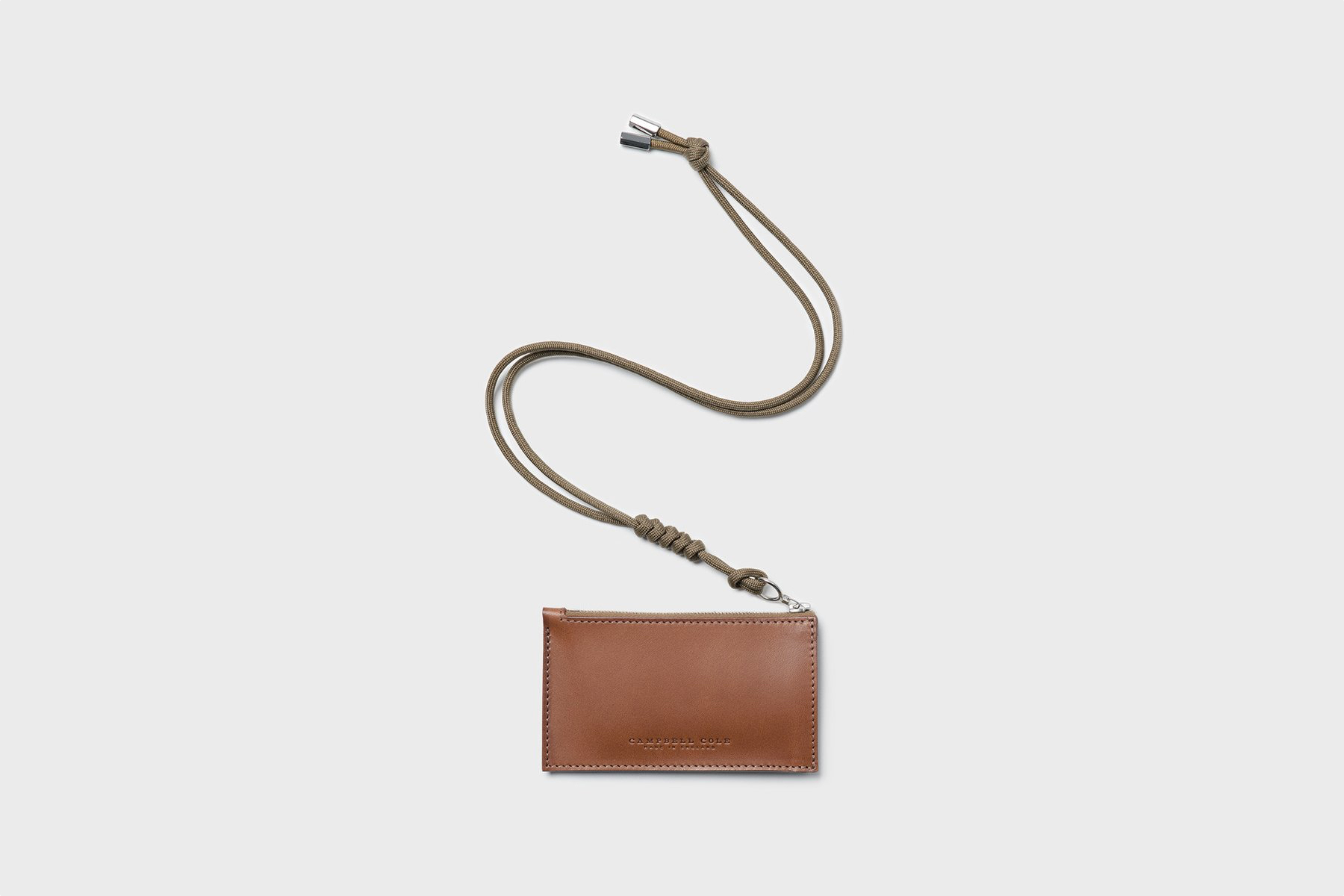 Campbell Cole Simple Coin Pouch Tan