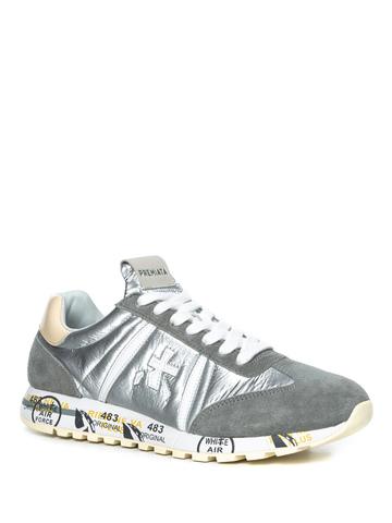 Комбинированные кроссовки Premiata Lucy-D 4803 на шнуровке