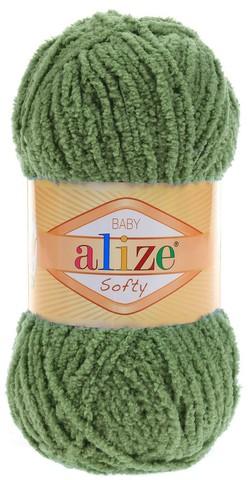 Пряжа Alize SOFTY 485 зелёная черепаха