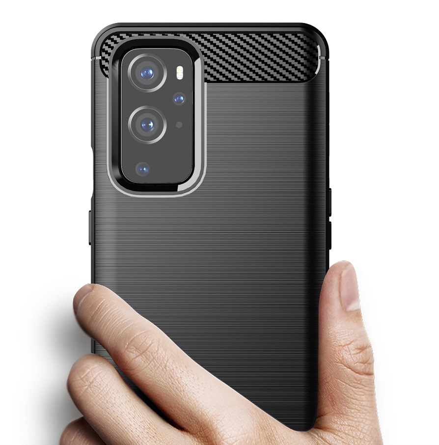 Чехол для смартфона OnePlus 9 Pro, серии Carbon (дизайн в стиле карбон) от Caseport