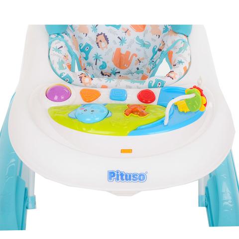 PITUSO Ходунки Африка 8 силиконовых колес, игрушки, музыка, 2 стоппера