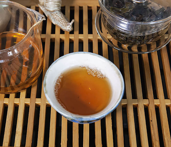 TEA-CH111 Темный улун «Большой Красный Халат» - (Да Хун Пао, слабая обжарка,10 гр) фото 13