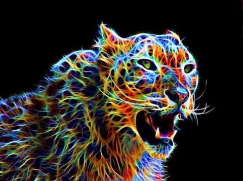 Алмазная Мозаика 30x40 Цветной хищник