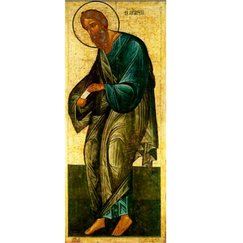 Икона святой Андрей Первозванный Андрея Рублева на дереве на левкасе мастерская Иконный Дом