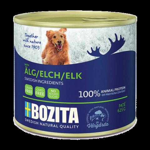 Bozita Elk Консервы для собак мясной паштет с лосем (железная банка)