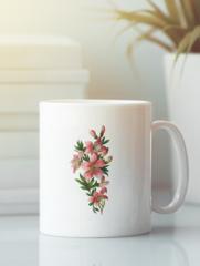 Кружка с изображением  Цветы (Лилии) белая 0011