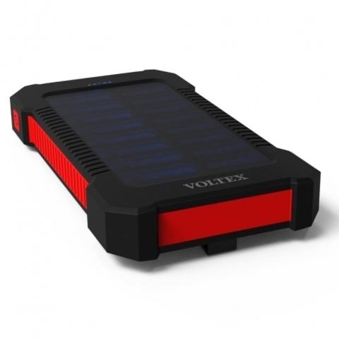 Power Bank Voltex VXS-240.22 2xUSB 10400mAh влагозащита + солнечная батарея red
