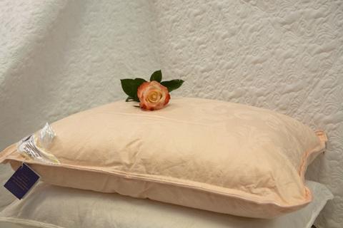 Подушка шелковая  Elisabette Элит Престиж 50x70 1.2кг - персиковая