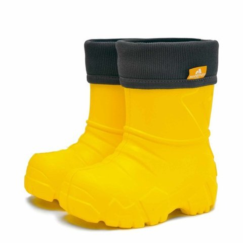 Сапоги утеплённые манжета вельвет жёлтые Nordman Kids