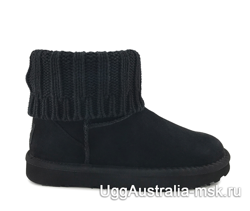 UGG Sacai Knit Classic Mini II Black