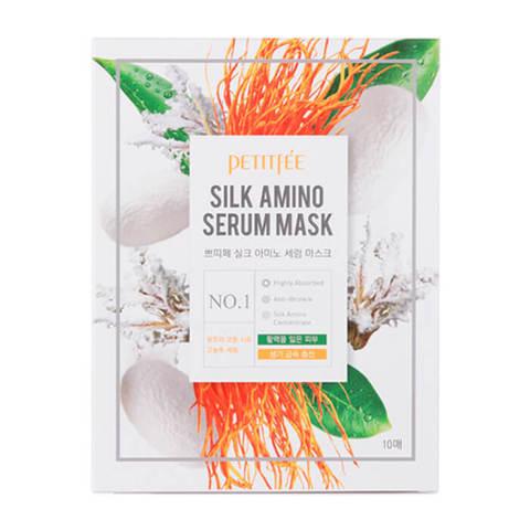 Увлажняющая тканевая маска с протеинами шелка Petitfee Silk Amino Serum Mask