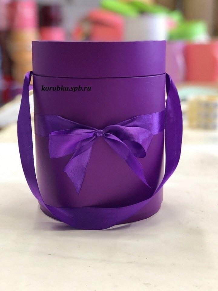 Шляпная коробка D 16 см .Цвет: фиолетовый . Розница 350 рублей.