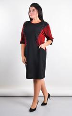 Афіна. Стильна сукня plus size. Червоний.