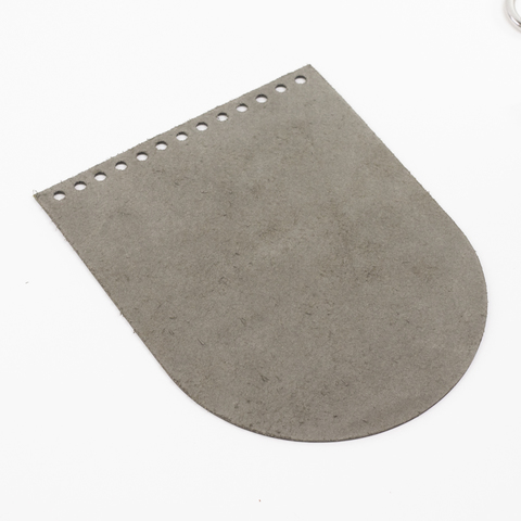 """Клапан для сумочки кожаный """"Хаки"""" 15,5*19,5 см"""