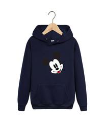 Толстовка темно-синяя с капюшоном (худи, кенгуру) и принтом Микки Маус (Mickey Mouse) 002