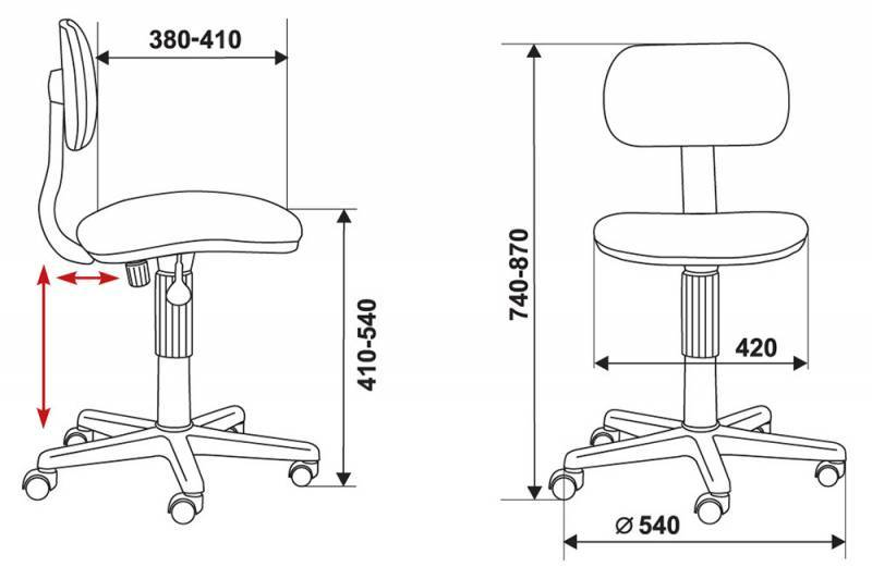 Кресло для персонала CH-201NX/