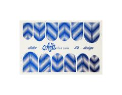 Фольга для дизайна ногтей цвет синий 52