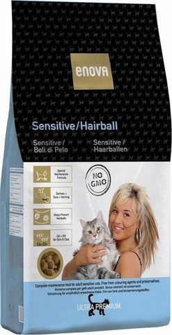 Сухой корм Enova Sensitive/Hairball Cat